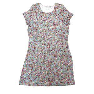 J. Jill Floral Printed Short Sleeve Tiered Dress
